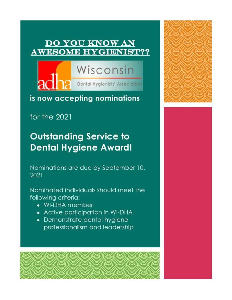 Outstanding Service to Dental Hygiene Award 1