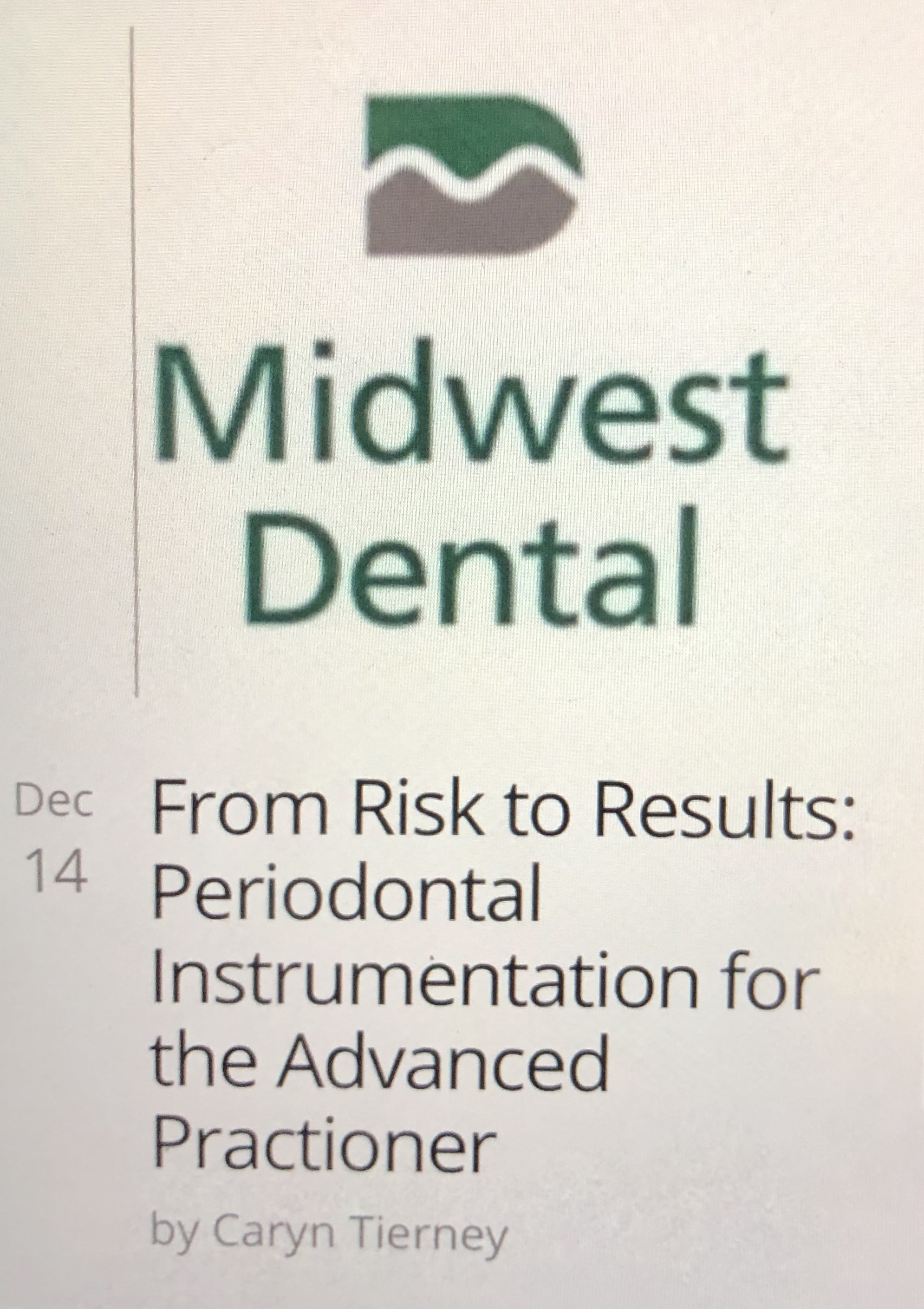 From risks to results: periodontal instrumentation for the advanced practitioner 1