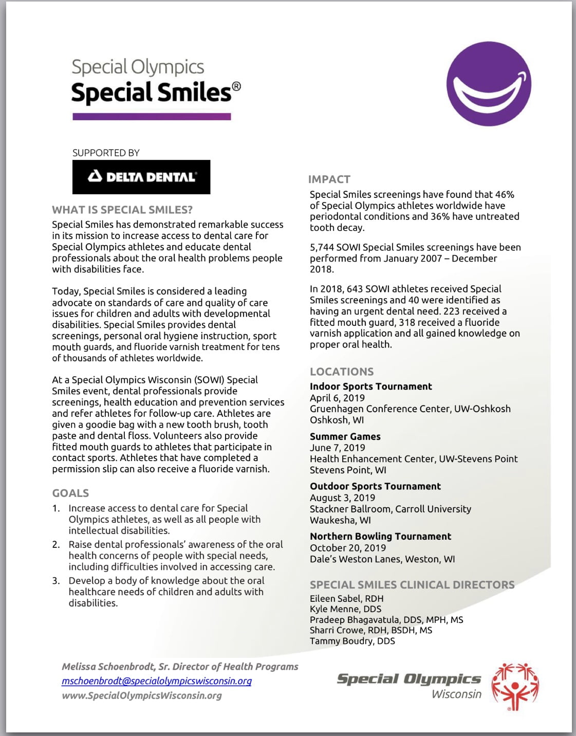 Special Smiles  - Wisconsin Special Olympics 1