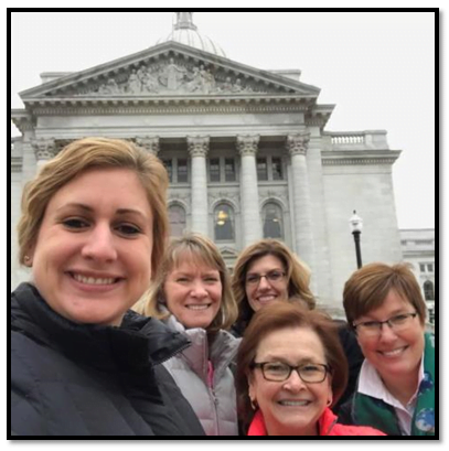 WI-DHA Members at the Capitol